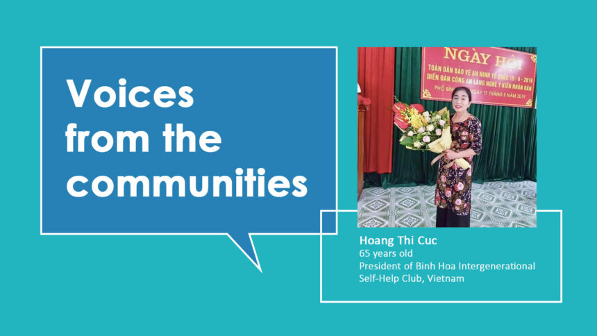 Voices from the communities: Hoang Thi Cuc from Vietnam
