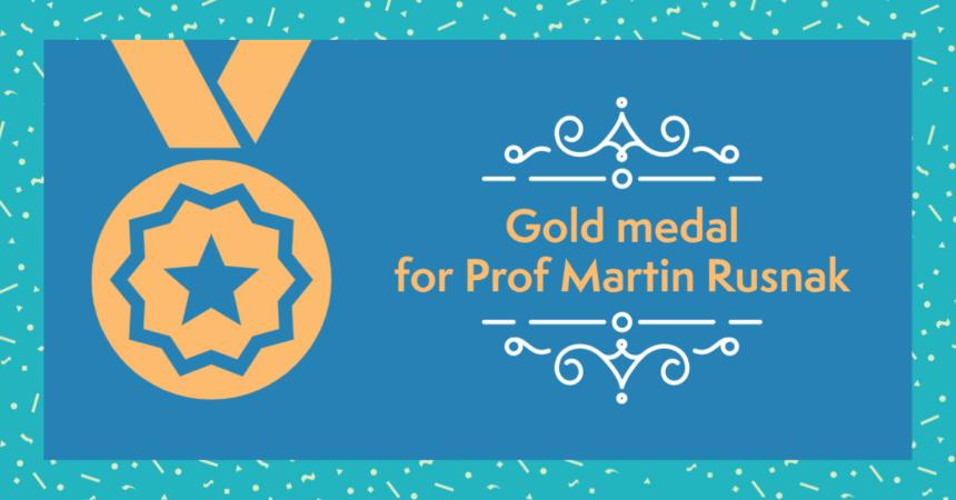 A gold medal for Prof Martin Rusnak